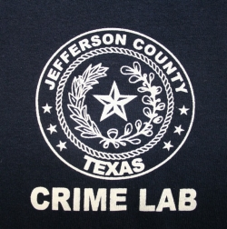 Jefferson County Texas seal with Crime Lab printed below.